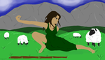 Crouching Shepherdess by jacquelynfisher