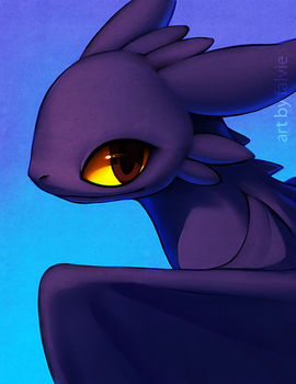 Toothless by falvie