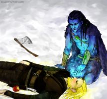 Snow Prince and the Huntsman by krusca
