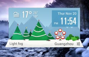 Winter Time Widget HD for xwidget by jimking