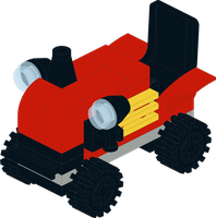 Brick Tech - Farm Tractor - Harvest Truck. by Kantorock