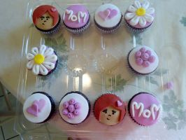 Mother's Day Cupcakes by PnJLover