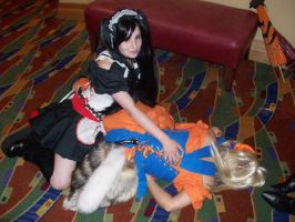 Naru and Sasu - Fanime 2008 by Wardog1