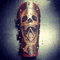 Assassins Creed Skull Vambrace by MerrillsLeather