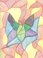 Stain Glass Butterfly by Uxie77