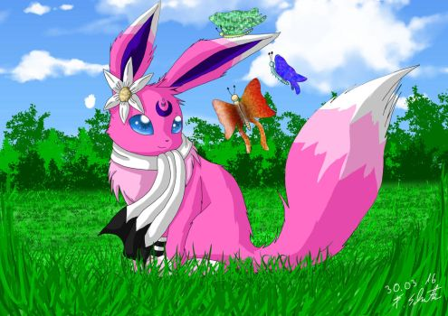 OC: Flora the Eevee by Snilaze