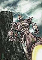 Iron Giant speed paint by JeremiahLambertArt