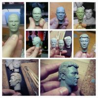 1/6 Admiral Kirk headsculpt - in progress pic 3 by DarrenCarnall