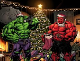 Merry Hulk Christmas by GURU-eFX