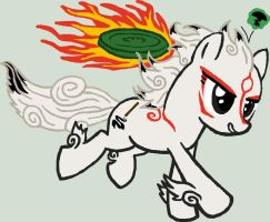 Pony request 2 - Amaterasu with Issun by ah-darnit