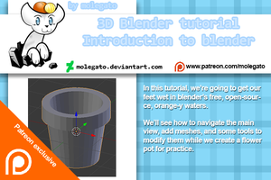 Patreon exclusive: Blender introduction tutorial by molegato