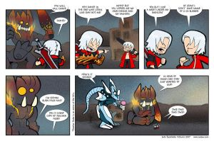 A Dante and Nero strip by ivanev
