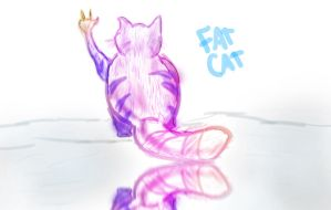 Fat cat by zer0nyx