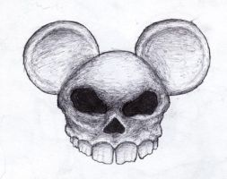 mickey mouse's skull by diib