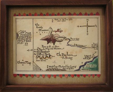 Thror's Map from The Hobbit by Lizzy-Bell