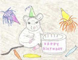 Happy Birthday Mouse by LindArtz