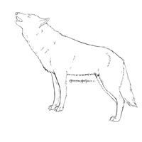 Wolf Howling Lines FREE by xTrippingOnYoux