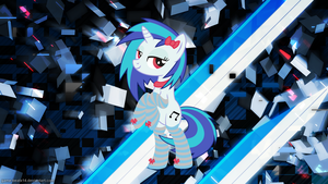Vinyl Scratch Socks Wallpaper by Huskyfan