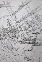 Future city sketch by crewthere1