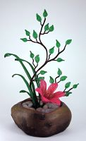Ikebana Beaded Flower Arrangement by Lady-Blue