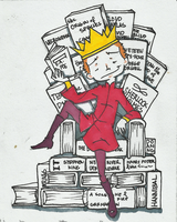 Bibliothrone by mybloodstainedshirt