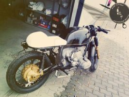 Cafe Racer BMW by madsparkairbrush