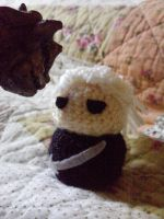 Crochet Geralt by LoonyBuffoon
