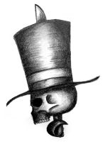 top hat skully by pingvin66666