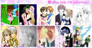 My top 10 fav. anime couples by Iloveyoukisshu