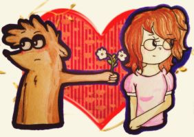 AT: Rigby x Eileen by JenyLittlie123