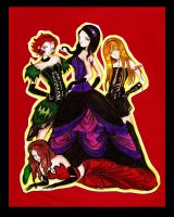 Group of vampire woman by centauros-graphic