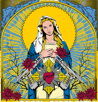 Mary Stained Glass by DK-Studio