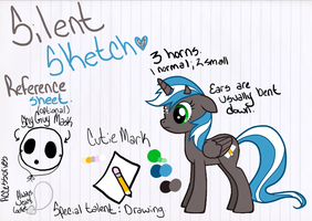 My Little Pony OC - Silent Sketch Reference Sheet by Silent-x-Sketch