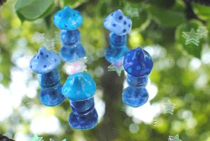 Blue Polka Dot Fairy Ring by Miss-Evergreen