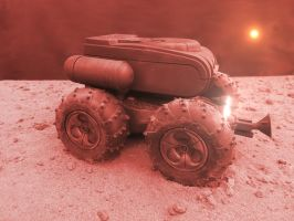 Mars Shuttle Rover by skphile