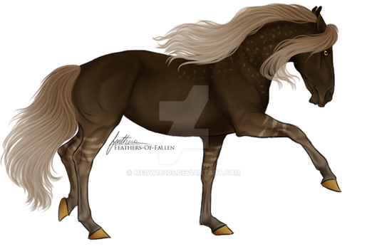 Brown/Beige Creme Horse by Meow16305