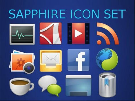 Sapphire Icon set by digigamer