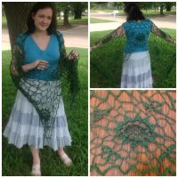 Irish Crochet Shawl by LittleMrsAdams