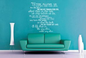 Fiction Allows Us - Doctor Who Wall Decal by GeekeryMade