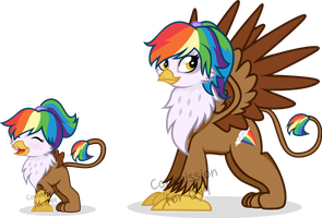 [COMMISSION] Rainbow Feather by PandamoniYUM