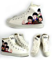 The Beatles , custom shoes by Annatarhouse