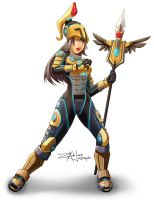 Athena Olympus Rebirth by shadowblitz