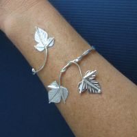 Ivy Leaf Arm Wrap Bracelet by camias