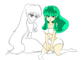 Lum and Shampoo by mosuga
