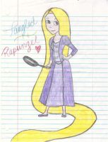 Rapunzel with her frying pan by MissySerendipity