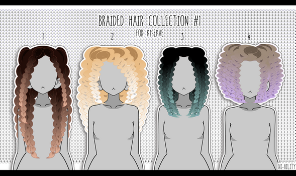 Braided Hair Collection #1 [ Export ] by Avant-Garde3D