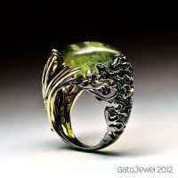 Amber ring 1 by GatoJewel-DerKater