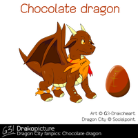 Dragon City fanpics: chocolate dragon by G3Drakoheart-Arts