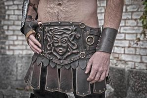 Medieval Gladiator Spartacus Leather Belt by vofffka
