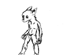 Werewolf character body study by Rinddon